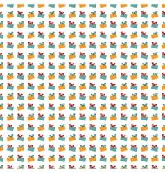Abstract Christmas gift pattern wallpaper vector image
