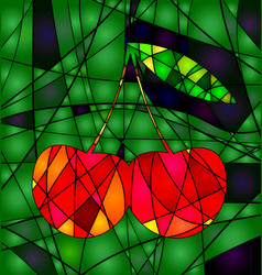 abstract colored cherry vector image