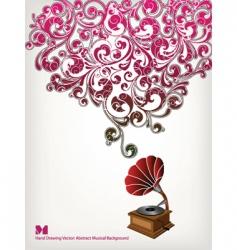 floral sound vector image