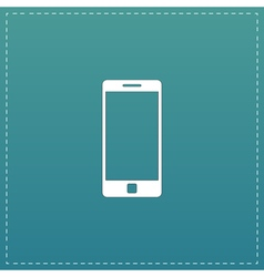 Mobile gadget flat icon vector
