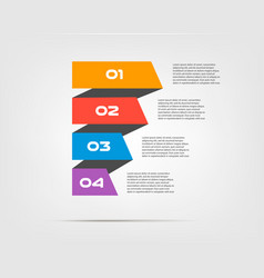 ribbon infographic concept template with 5 vector image