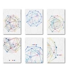 Set of templates business scientific brochures vector image vector image
