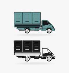 Truck car symbol vector