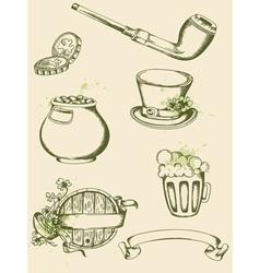 vintage hand drawn vector image vector image
