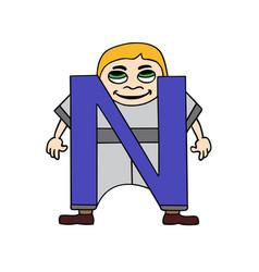 child english alphabet letter n vector image