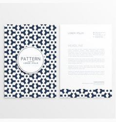 letterhead template with abstract shapes vector image vector image
