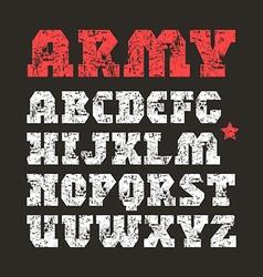 Serif font geometric form vector image vector image
