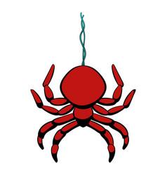 spider icon cartoon vector image