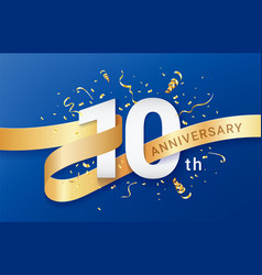 10th anniversary celebration banner template vector