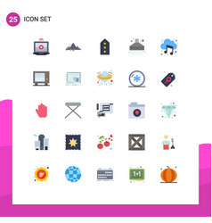 25 universal flat colors set for web and mobile vector