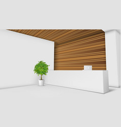 3d view of a office reception desk ready for vector image