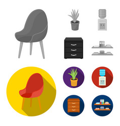a red chair with a comfortable back an aloe vector image