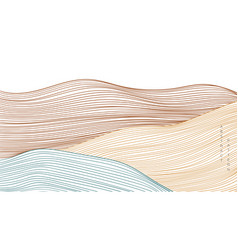 abstract art background with line pattern curve vector image