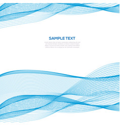 abstract blue wave business background template vector image