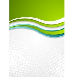 Abstract bright corporate wavy flyer design vector