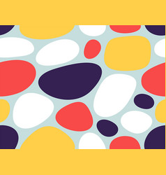 Abstract geometric pattern with decorative stones vector