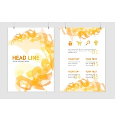abstract orange geometric brochure flyer vector image