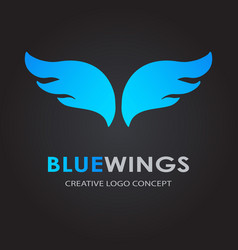 abstract simple wings logo logo icon vector image