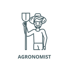 agronomist line icon outline concept vector image