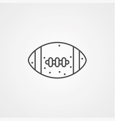 american football icon sign symbol vector image