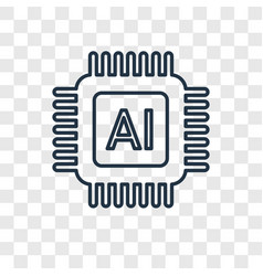 artificial intelligence concept linear icon vector image