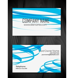 Attractive business card design vector