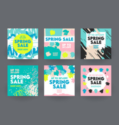 banners for social media marketing spring sale vector image