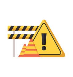 barricade repair construction vector image
