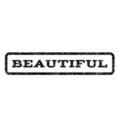 beautiful watermark stamp vector image