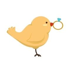 birds wedding card celebration vector image