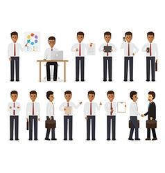 Black businessman people characters vector