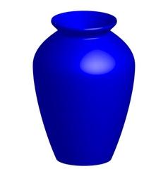 blue vase vector image