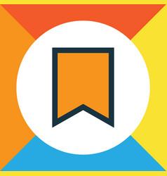 bookmark colorful outline symbol premium quality vector image