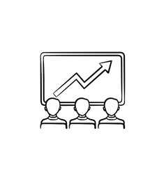 business growth hand drawn sketch icon vector image