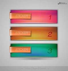 Business stickers on the gray background for vector image