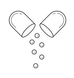 Capsule line icon vector