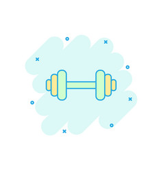 Cartoon dumbbell fitness gym icon in comic style vector