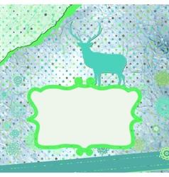 Christmas deer tempate card vector