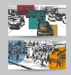 city banner design elements set vector image