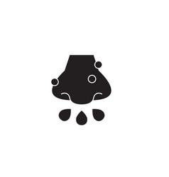 cold rhinitis black concept icon cold vector image