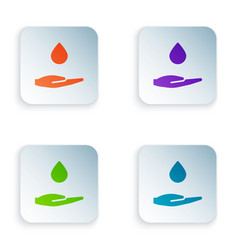 Color washing hands with soap icon isolated on vector