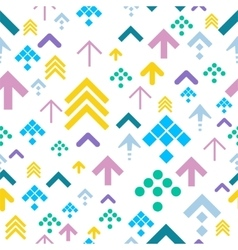 Colorful Arrow Background on White vector