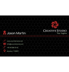 Creative business card vector image
