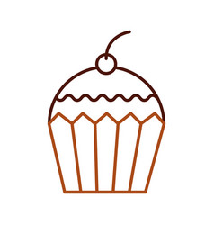 cup cake dessert pastry product food fresh vector image