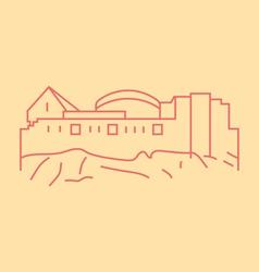 Edinburgh Castle vector image