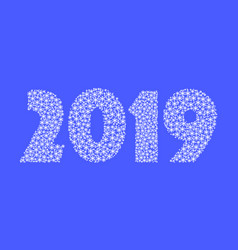 figures 2 0 1 9 of snowflakes eps vector image