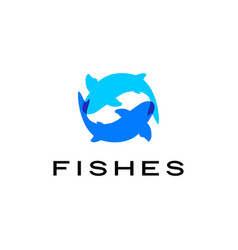 fishes logo icon vector image