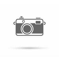 Flat camera pictogram icon isolated on white vector
