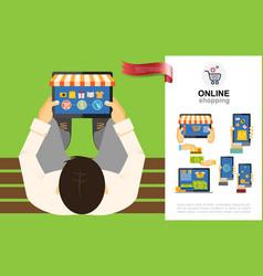 flat e-commerce concept vector image