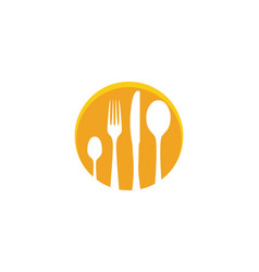 fork plate spoon icon vector image
